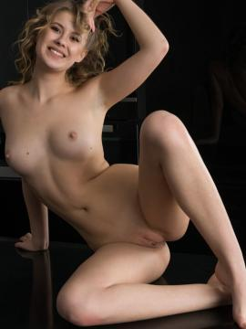 """Cute blonde Casey shows tight pussy in """"Egsta"""""""