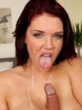 Redhead hottie Emma Leigh pays the rent with her pussy instead of cash