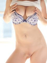 Beautiful busty Chrissy Marie gives you a morning striptease