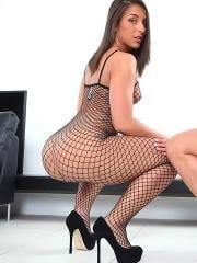 Fucking hot ass fishnet ass duo banged hard against the stairwell hot fucking cumfaced sex pics