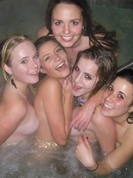 Hot lesbian college girls go wild at a party