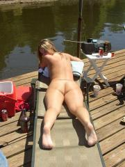 Blonde lesbian coed shares some homemade pics