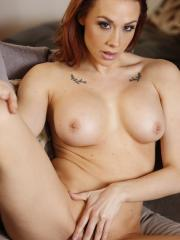 Busty brunette Chanel Preston gets fucked hard on the couch