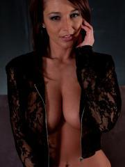 Hot girl Nikki puts on her sexy black lace to make you hard
