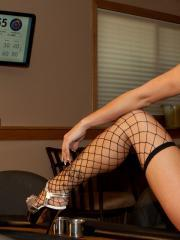 Beautiful girl Nikki invites you to join her for a game of strip poker