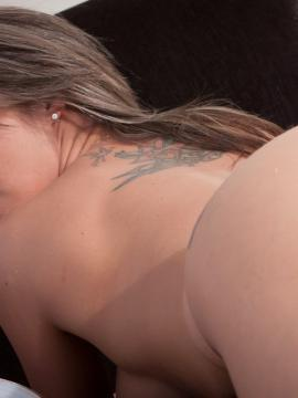"""Nikki Sims stripping and teasing in her thong and socks in """"Chillin Chaise"""""""