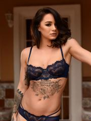 Brunette beauty Mica Martinez strips for you on the floor