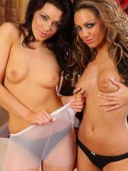 Pictures of two stunning teen fairies stripping each other