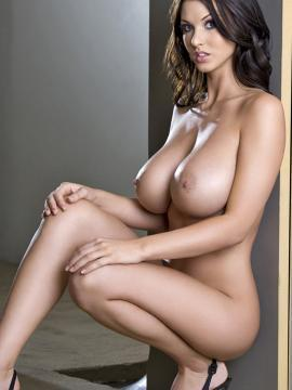 Busty glamour model Alice Goodwin shows her boobs in her debut set