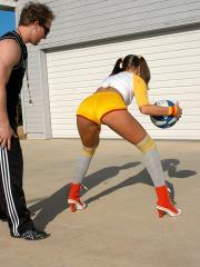 Hot teen Tori Black fucks her basketball coach and his wife