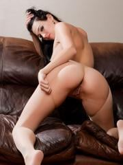 Pictures of Reanna Mae showing her pussy on the couch