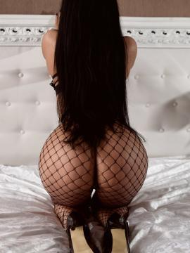 ass brunette fishnets