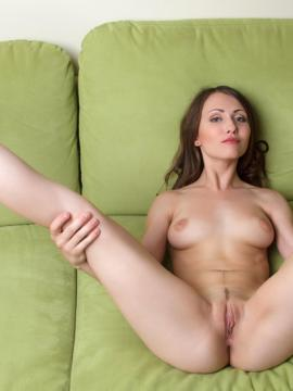 """Brunette babe Ynesse strips nude and spreads her legs in """"Deevano"""""""