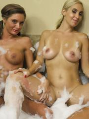 Salina Ford invites her hot friends over to get all soapy in the tub