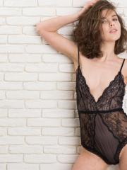 """Beautiful girl Dakota A strips out of her black lace in """"Apare"""""""