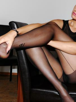 Sexy Lena teases in her sexy black stockings