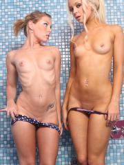 Stacey Rocks get her girlfriend Lexi over for a hot shower