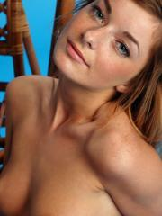 """Redhead babe Ekaterina D strips naked for you in """"Expectation"""""""