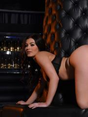 Summer St Claire strips down to her thong and heels in the vip lounge