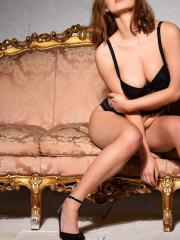 Summer St Claire strips for you in her lingerie