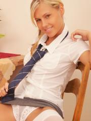 Blonde schoolgirl  Sweet Zuzanna gives you her wet pussy