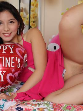 Melody Wylde shows what's up her pink dress