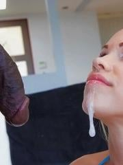 Teen girl Britney Young enjoys a huge cock deep inside her pussy