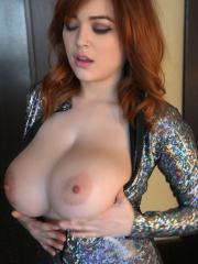 Busty redhead Tessa Fowler shows you her huge titties