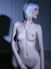 "Blonde girl Kira W gets naughty with chains in ""Twilight"""