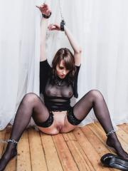 """Busty brunette Selena gets kinky for you in """"Captured Part 1"""""""