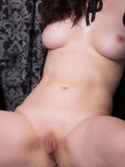 Goth girl Judith Able masturbates in Curvaceous