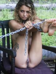 "Beautiful girl Jacinta B gets naughty outside in ""Nature"""