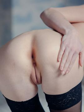 """Gerda A gets naughty in her black stockings in """"Dimension Unknown"""""""
