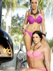 Lisa Ann and Kendra Lust invite you to join them in the hot tub