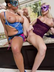 Tory Lane and Christie Stevens bust out the strap on and fuck each other silly