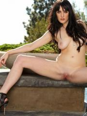 Samantha Bentley gets naughty outdoors and massages her pulsing clit