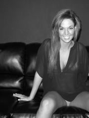 Val Midwest shows off her hot teen body in black and white