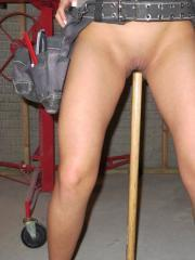 Val Midwest gets turned on by all of the tools in her garage