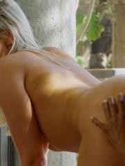 """Lexi Lowe and Noe Milk pleasure each other outside in """"Discovered"""""""