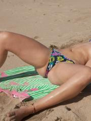 Hot coed Dharma Webb has some fun at the beach