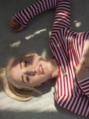 Blonde coed Robin Medina shows you what's up her skirt outside