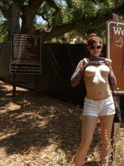 Hot coed Jazz Reily gets naughty in the woods
